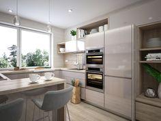 Moderné Rodinné domy v atraktívnej lokalite NA PEKNOM POLI Kitchen, Table, Furniture, Home Decor, Pulley, Cooking, Decoration Home, Room Decor, Kitchens