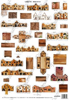Teensy Printable Buildings or smaller! Possible micro models for kid's room? Paper Glue, Paper Toys, Paper Art, Paper Crafts, Cardboard Box Houses, Paper Houses, Cardboard Toys, Putz Houses, Fairy Houses