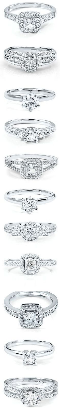 Love the solitary diamond rings! :)