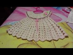 Vestido para bebe a ganchillo o crochet - YouTube