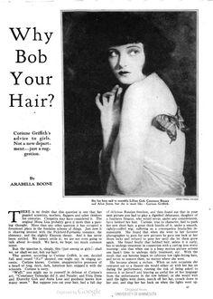 No inicio do séc.XX surgem os ícones de moda. O cinema e as revistas começam a ser cada vez mais importantes e atrizes como Corinne Griffith começam a ditar tendências.