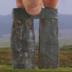 Not Spinal Tap. A fake photo with fingers for scale and grass to mess with the mind. Trilithon Two, Stonehenge scale rusted iron patina. Fake Pictures, Model Pictures, Picture Blog, Fake Photo, Stonehenge, Cool Drawings, Grass, Fingers, Scale