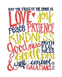 Free printable!  The Fruit of the Spirit.  Two color options