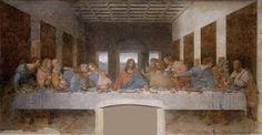 Leonardo da Vinci - The Last Supper - Léonard de Vinci — Wikipédia Renaissance Kunst, High Renaissance, Renaissance Paintings, Pandora Avatar, Caravaggio, Milan Museum, Jesus Christus, Most Famous Paintings, Guernica