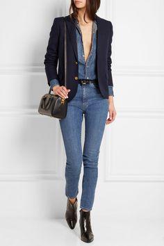 Saint Laurent | Wool-twill blazer | NET-A-PORTER.COM