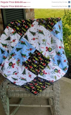 SALE Grinch Blanket How the grinch stole christmas by CraftyMom75