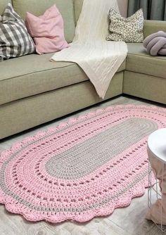 Crochet Rug Patterns, Crochet Symbols, Crochet Motif, Crochet Designs, Crochet Carpet, Crochet Home, Diy Crochet, Crochet Eyes, Crochet Bunny