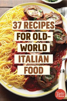 37 Recipes for Old-World Italian Food These classic Italian foods are heavy on t. - 37 Recipes for Old-World Italian Food These classic Italian foods are heavy on the Parmesan. World Recipes, Home Recipes, Cooking Recipes, Italian Cooking, Italian Foods, Best Italian Food, Traditional Italian Recipes, Italian Food Recipes, Italian Meat Dishes