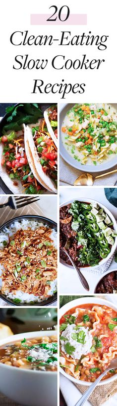 20 Clean-Eating Recipes You Can Make in Your Slow Cooker #cleaneating #eatclean #slowcooker #healthyrecipes #healthydinners #healthy #slowcookerrecipes #weeknightdinners #makeaheadmeals