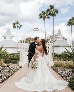 Callie & Jacob are sharing their fairy tale this week on the Disney Wedding Podcast! Click link in bio to listen!    👰: @calliemariemcdo 📸: @ashlyncathey.photo 👗: @lazarobridal  #disneyweddingpodcast #fairytaleweddingsguide #disneywedding #weddingdetails #waltdisneyworld #disneyweddings #disneybridetobe #disneyland #disneycouple #disneyworld #dftw #disneybride #bridetobe #disbride #disneygram #disneygrammers #herecomesthebride #weddingtips #weddingplanning #disneyfairytaleweddings #wedd