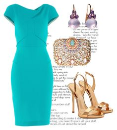 """Untitled #2942"" by janicemckay ❤ liked on Polyvore featuring Roland Mouret, Lipsy, Giuseppe Zanotti and Pomellato"