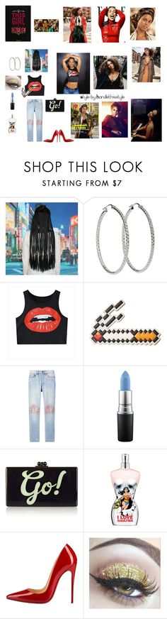 """Alicia Keys ❤️ Happy Sunday! 😊"" by handlethisstyle ❤ liked on Polyvore featuring Nicki Minaj, Anya Hindmarch, Bliss and Mischief, MAC Cosmetics, Edie Parker, Jean-Paul Gaultier and Christian Louboutin"