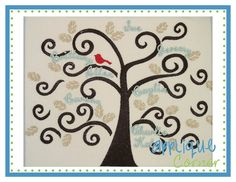 Family Tree Embroidery Design One Piece