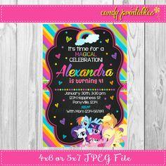 Mi invitación de cumpleaños pequeño Pony por CandyPrintablesStore