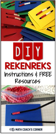 Rekenreks are great tools for building the important benchmarks of 5 and 10. Read how to make your own class set and grab a free guide for using them.