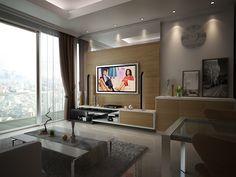 Apartment Interior Design Jakarta cyan #condo #interior #projects #interiordesign #livingroom