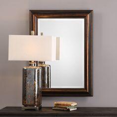 Uttermost Stuart Rubbed Bronze Mirror - 09292