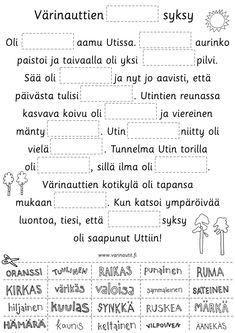 Syksy - Värinautit Classroom Behavior, Early Childhood Education, School Fun, Sheet Music, Kindergarten, Language, Teaching, Autumn, Halloween