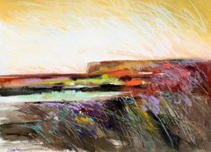 Carol Engles Art: Desert Sunset Two, abstract landscape by Carol Engles