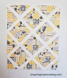 Inspiring Creations: 4-Patch Slice Free Quilt Pattern and Tutorial. Uses charm squares