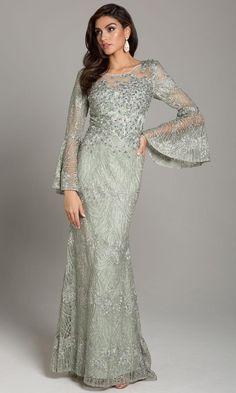 Mob Dresses, Short Dresses, Fashion Dresses, Wedding Dresses, Bride Dresses, Formal Dresses, Lace Mermaid, Mermaid Gown, Bell Sleeve Dress