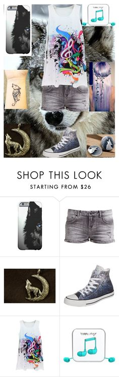 """""""The wolf girl"""" by werewolflover0302 ❤ liked on Polyvore featuring LTB by Little Big, Wolf & Moon, Converse, Happy Plugs, women's clothing, women's fashion, women, female, woman and misses"""