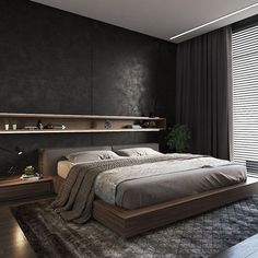 Beautiful Master Bedrooms with Modern Interior Decor - Gazzed - Designer bedroom design. Beautiful Master Bedrooms with Modern Interior Decor The Effective Picture - Bedroom Bed Design, Modern Bedroom Design, Home Decor Bedroom, Modern Interior Design, Bedroom Ideas, Modern Mens Bedroom, Modern Bedroom Furniture, Bedroom Inspiration, Furniture Ideas