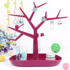 Rose Red Tree jewelry display rack | Jewelry Holder