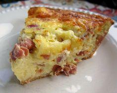 Serrano & Manchego Quiche - Spanish ham & cheese