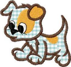 Dog applique free embroidery design. Machine embroidery design. www.embroideres.com