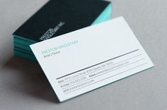 Business card with edge painted detail designed for Preston Singletary by Turnstyle.