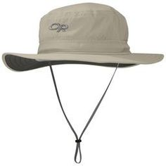 The broad-brimmed Helios Sun Hat protects from intense sun with a UPF 50+ rating. The  headband moves moisture away from your brow, and the brim offers an oasis of shade. The  drawcord adjustment keeps it snug on long trails.Features:• Fabric Performance: Water-Resistant, Breathable, Lightweight, Wicking, Quick-Drying, TransAction™ Headband, UPF 50+• Design Features: Dark Fabric Under Brim, Floating Foam-Stiffened Brim, Embroidered OR Logo• Functional Details: One-Handed Drawcord Adjustment…