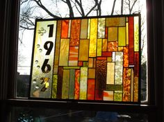 stained glass 50th WEDDING ANNIVERSARY window Perfect gift for mom and dad