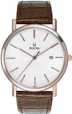 bulova orologio uomo 98H51 con cassa rosa http://www.gioiellivarlotta.it/product.php?id_product=521