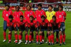 South Korea team group at the 2002 World Cup Finals.