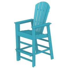 Poly Wood Recycled Plastic Wood South Beach Adirondack Bar Stool ShoppersChoice