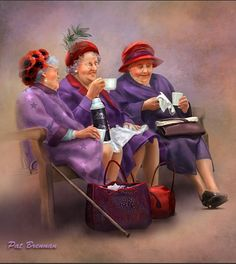 Warning - When I am an old woman, I shall wear purple, With a red hat which…