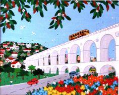 Os Arcos da Lapa,  2005 Lúcia de Lima ( Brasil, contemporânea) Acrílica sobre tela Coleção Particular