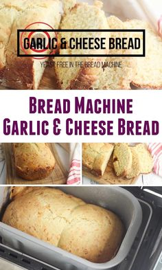Bread Machine Garlic Bread Recipe, Bread Machine Recipes Healthy, Make Garlic Bread, Best Bread Machine, Bread Maker Machine, Italian Bread Recipes, Bread Machines, Breville Bread Maker Recipes, Cooking Recipes