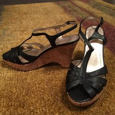 Wedges Really great condition. Very cushiony sole.  Size 8 but closer to 7.5.  (Item 88) Nickels Shoes Wedges