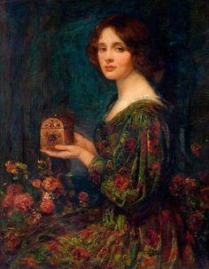 Thomas Edwin Mostyn (English, 1864–1930). The jewelled casket.