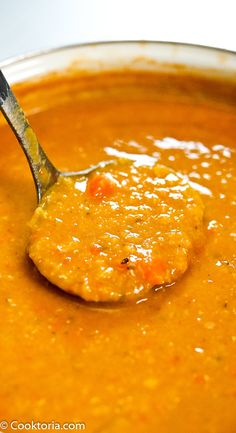 This Red Lentil Soup is packed with protein and so delicious. You're going to love how flavorful and satisfying this vegetarian soup is. Vegetarian Soup, Vegetarian Cooking, Vegetarian Recipes, Cooking Recipes, Healthy Recipes, Vegan Soups, Vegetarian Sandwiches, Greek Cooking, Going Vegetarian