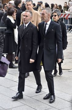 Twinning: Dean and Dan Caten of DSquared fame also arrived to pay their respects ...