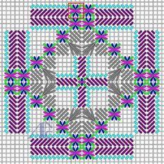 Oct 5, 2016 - Witajcie! W marcu będziemy kontynuować prace w obszarze B. Dla przypomnienia obszar B to wewnętrzne elementy krzyża, tak jak na obrazku... #colourcomplements #stitchdesign #stitchpattern