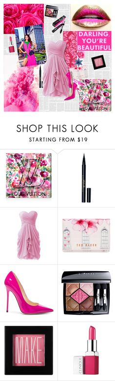 """""""I'll Fix You With My Love"""" by luvmrb61899 ❤ liked on Polyvore featuring Oliver Gal Artist Co., Stila, Ted Baker, Jimmy Choo, Christian Dior, Make, Clinique, Benefit and xO Design"""