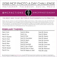 MCP Photo A Day Challenge: February 2016 » MCP Actions