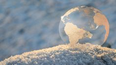 Frozen Earth soap bubble