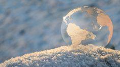 Frozen Earth soap bubble