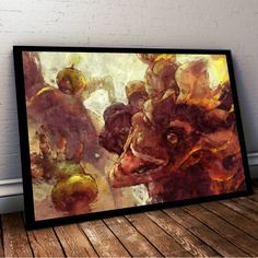 Overwatch Poster. Overwatch Junkrat Painting Print. Mounted Canvas available on…