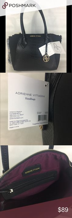 New Adrienne Vittadini Women's Handbag Brand new Adrienne Vittadini Women's hand Bag large main compartment orgizational features cell phone pocket and removable shoulder strap Adrienne Vittadini Bags Shoulder Bags